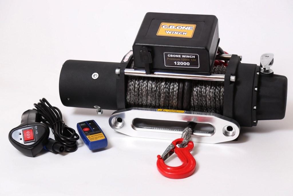 Navijak CBONE WINCH Premium12000 12V so syntetickým lanom